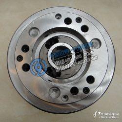 供应大陆代理台湾进口通福三爪中实液压卡盘油压夹头V-208
