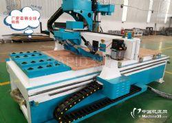 供应1325板式家具数控开料机四工序双工位木工设备
