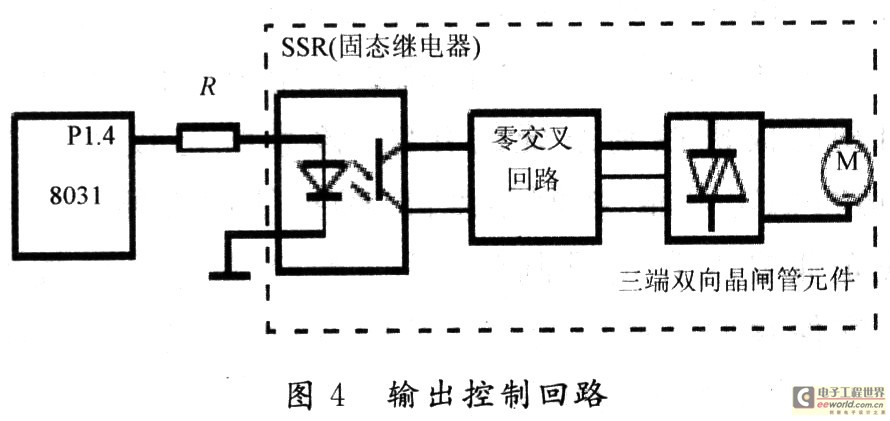 输入为ttl电平,输出为交流负载.当p1.