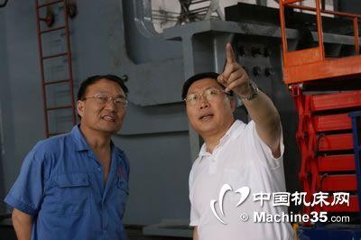 中国机床工具工业协会一行到天水锻压机床公司调研