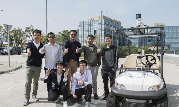 香港科技大学研发出香港首部多项创新功能的无人车