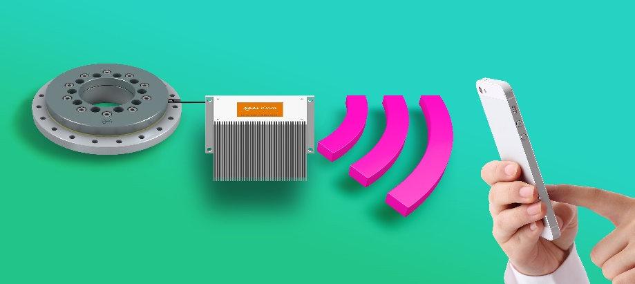 传感器安装在工程塑料回转环轴承的滑动元件下方槽中,对磨损度进行测试,并通过icom通讯模块及时指示更换。(来源:igus GmbH)