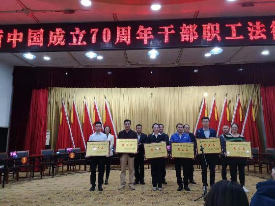 星火机床获中国成立70周年劳动法律知识竞赛第二名