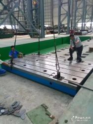 供应常州铸铁平台 坚硬QT500铸铁平台 箱体式U型槽平台