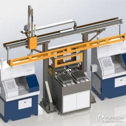 数控机床桁架机械手 上下料桁架机械手 双机床双立柱桁架机器人