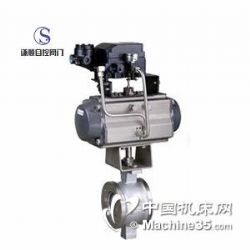 供应VQ670H气动V型不锈钢调节球阀
