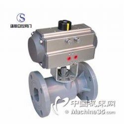 Q641S气动PVC塑料法兰球阀送货到厂价格