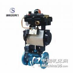 供应Q641F46气动衬氟耐腐蚀法兰球阀