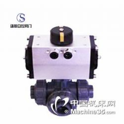 供应Q614/615S气动塑料三通球阀
