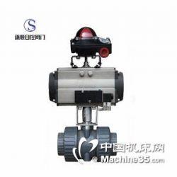 供应Q611S气动PVC塑料承插式球阀