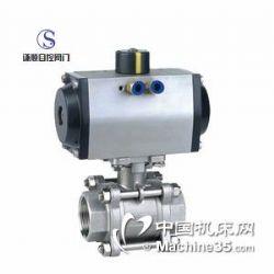 供应Q611F气动三片式不锈钢球阀
