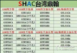 厂家直销滚珠丝杆线型导轨直ㄨ线轴承台湾鼎翰上银互换SHAC