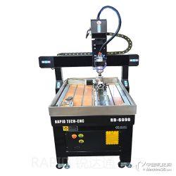 供應6090旋轉軸四軸小型數控雕刻機 工藝品木工石材PVC