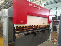 梁發記100噸電液伺服數控液壓折彎機不銹鋼折邊機