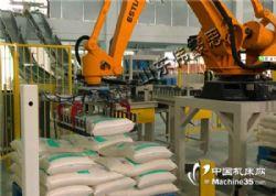 荞麦粉码垛机器人价格 全自动码垛系统