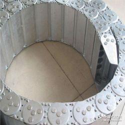金属钢铝电缆拖链 钢制坦克链 工程塑料拖链现货