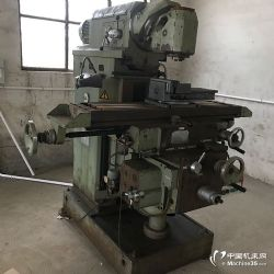 转让杭州铣床厂生产的X6232二手万能回转头升降铣床