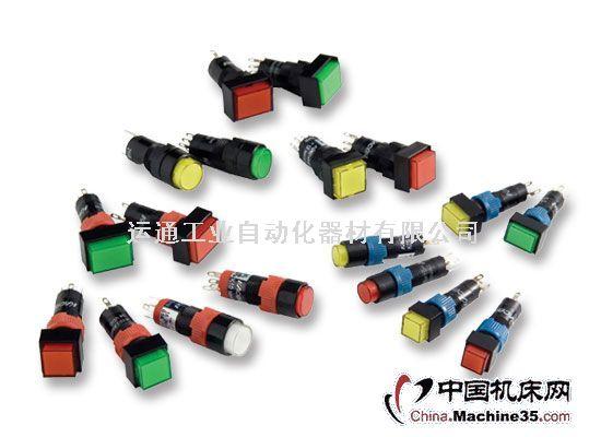 圆形,正方形或长方形的操作部,5种操作指示部颜色,复位或自锁开关等多