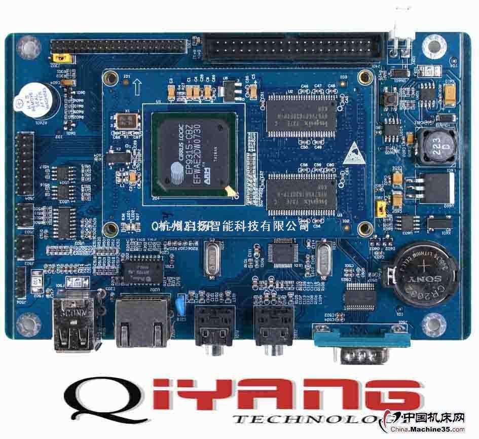 芯片规格:嵌入式工业计算机结构,采用CirrusLOGICEP9315处理器,主频200MHz,自带2D图形加速器,浮点运算协处理器支持LINUX2.6/LINUX2.4操作系统支持WINCE5.0/WINCE4.2操作系统板载硬件:内核为:ARM920T板载64MBSDRAM板载32MBNorFlash扩展接口:IDE&CF卡接口三组USB主机接口,三路RS232串口,其中1路支持9线全模式,另外2路232/485可选支持3.