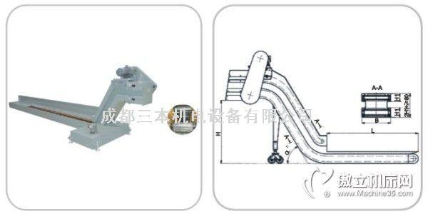 1型提升复合式链板排屑机