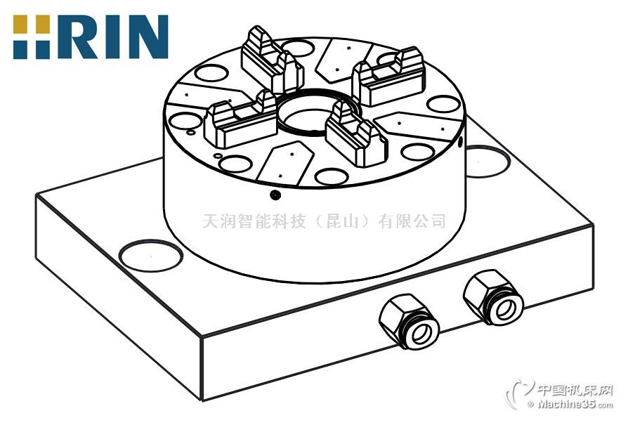天润D100 CNC自动快速卡盘